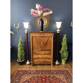19th Century French Empire Flame Mahogany Drop Front Secretary Preview