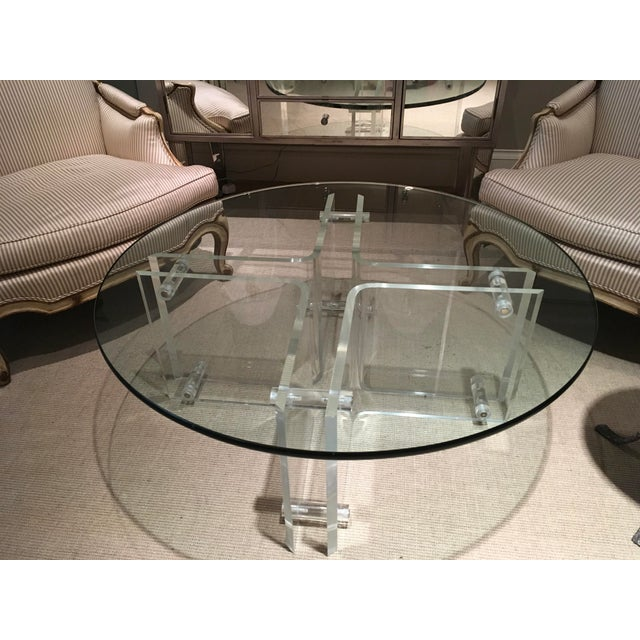 1960s Mid-Century Modern Lucite Cocktail Table With Glass ...