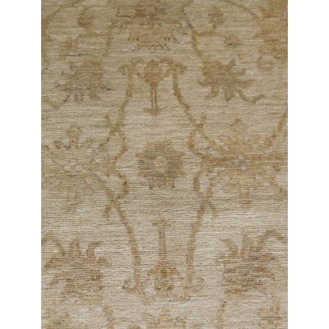 "Pakistan Neutral Floral Pattern Rug - 2'10""x 4'5"" For Sale - Image 5 of 6"