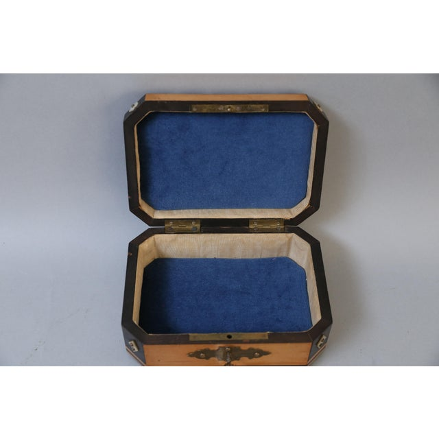 French Satin Wood & Mother of Pearl Box, Lock & Key For Sale - Image 4 of 8