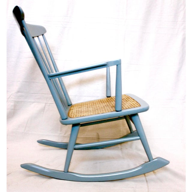Vintage Mid Century Danish Modern Rocking Chair For Sale In Sacramento - Image 6 of 9