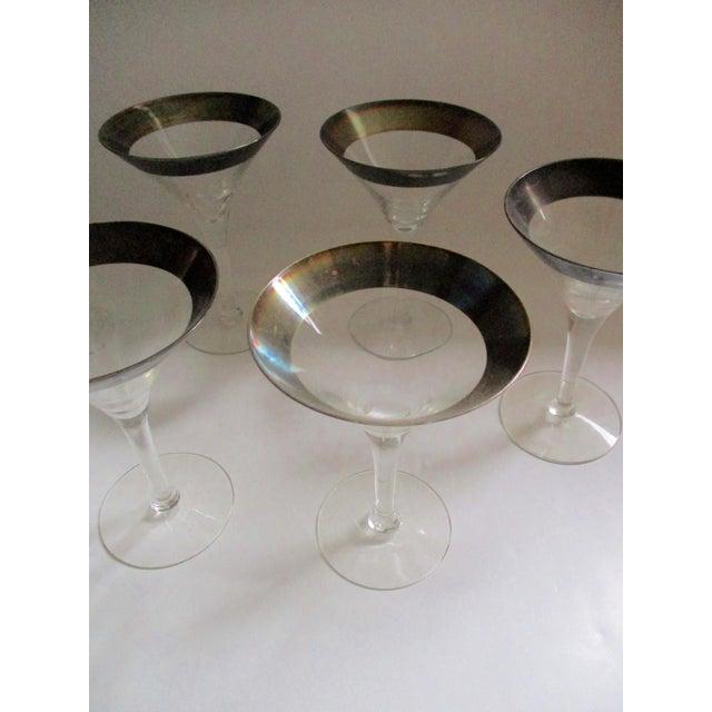 Dorothy Thorpe Silver Rim Champagne Glasses - Set of 6 - Image 10 of 10