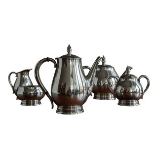 """Royal Danish"" Sterling Coffee and Tea Service by International Silver - 5 Pc. Set For Sale"