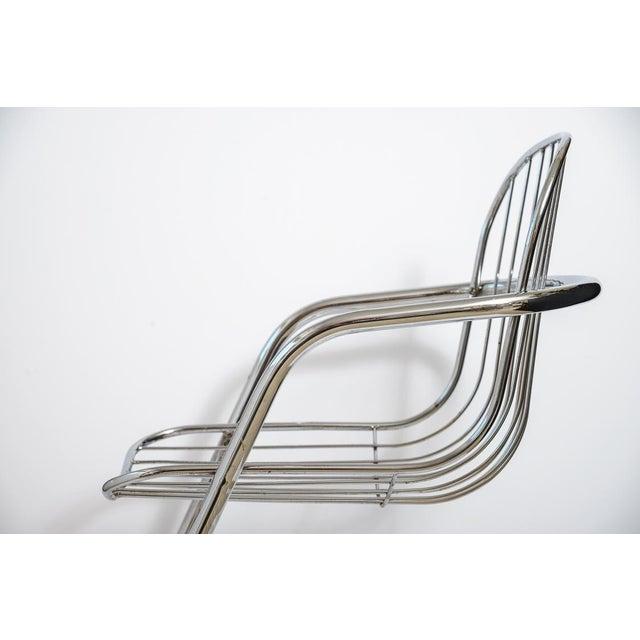 Chrome Italian Tubular Chrome Cantilever Chairs - Set of 4 For Sale - Image 8 of 10