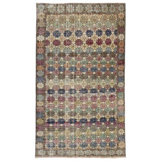 20th Century Turkish Zeki Muren Distressed Rug For Sale