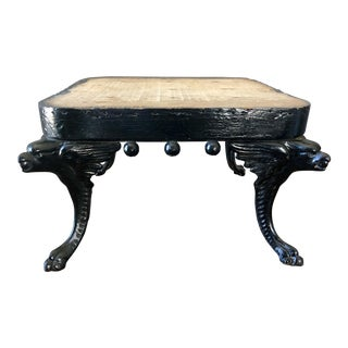 Antique Cast Iron Griffon Footstool