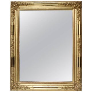 Early 19th Century Antique French Giltwood Mirror For Sale