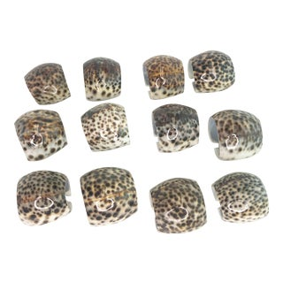 Vintage Cowrie Shell Napkin Rings - Set of 12 For Sale
