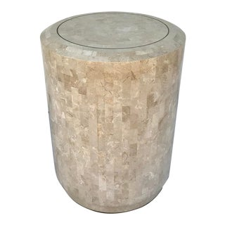 Postmodern Maitland Smith Smooth Tessellated Stone Side Table For Sale