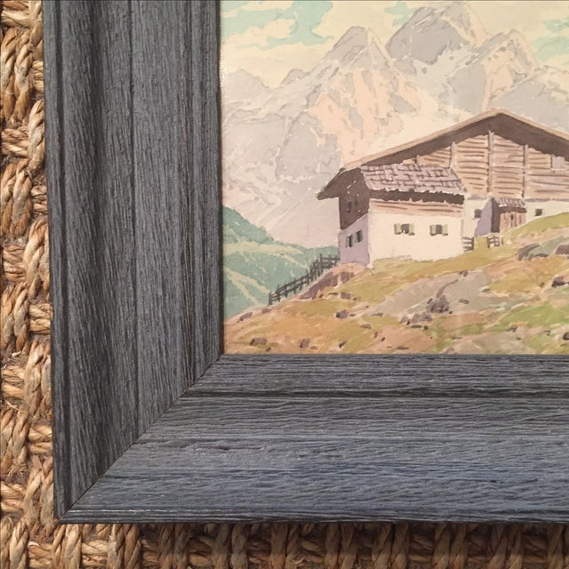 Rustic Petite Continental Paintings - A Pair For Sale - Image 3 of 4
