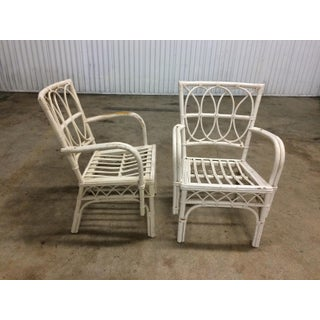 1950s Boho Chic Rattan Chairs - a Pair Preview
