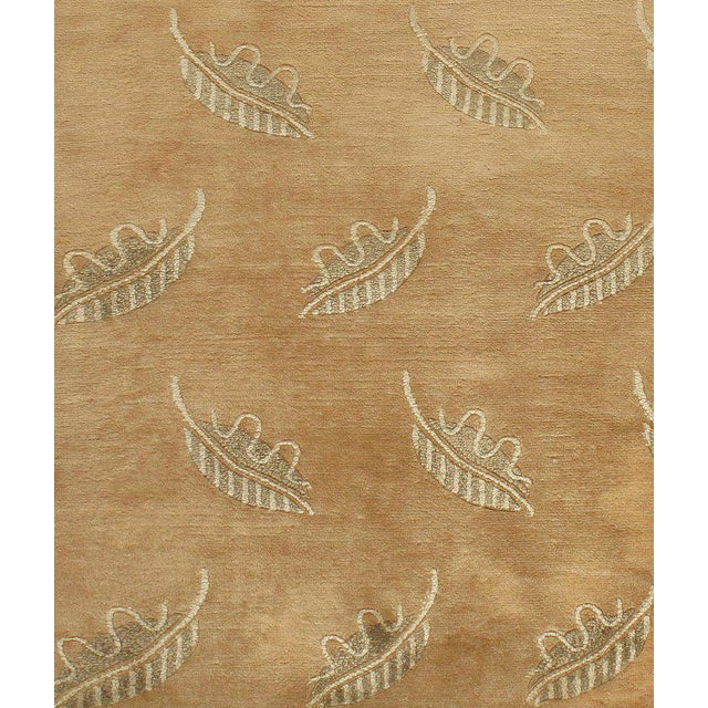 Contemporary Contemporary Modern Brown Hand Knotted Rug - 4' X 6' For Sale - Image 3 of 5