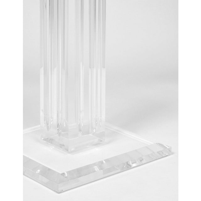 French Mid-Century Lucite Pedestal For Sale - Image 9 of 9