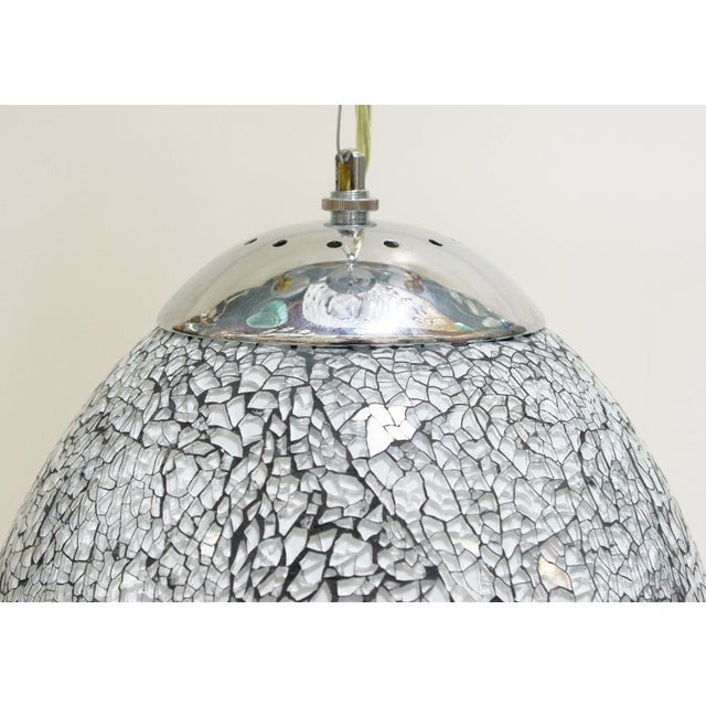Asian Modern Fabio Ltd Crackled Pendant For Sale In Palm Springs - Image 6 of 8