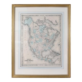 Giltwood Framed and Matted Map For Sale
