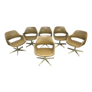 Arthur Umanoff Mid-Century Swivel Chairs - Set of 6 For Sale