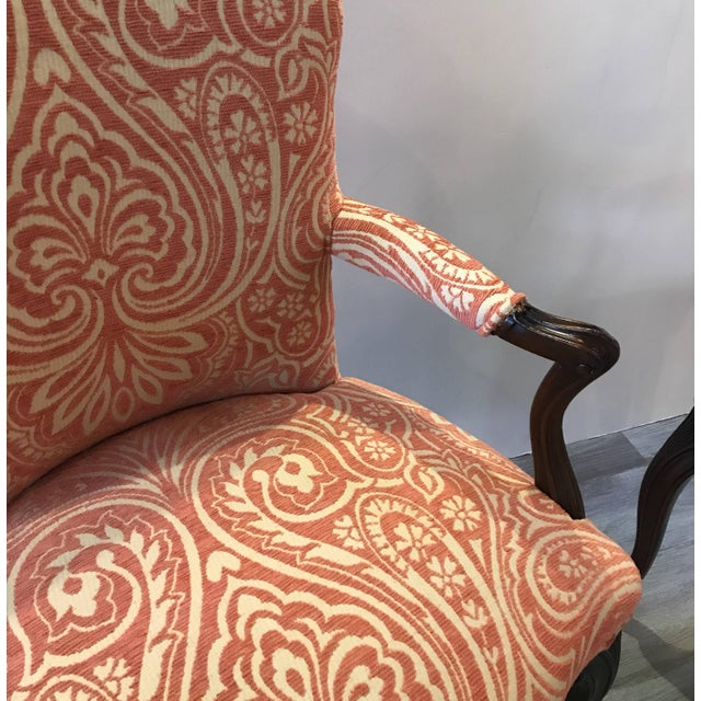 Orange 1920s Traditional Mahogany Bergere Chairs - a Pair For Sale - Image 8 of 10