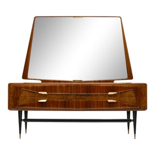 Italian Mid-Century Chest With Mirror For Sale