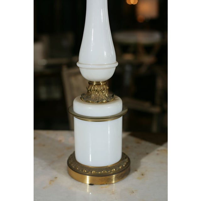 Bronze & Milk Glass Candelabras - A Pair - Image 5 of 6