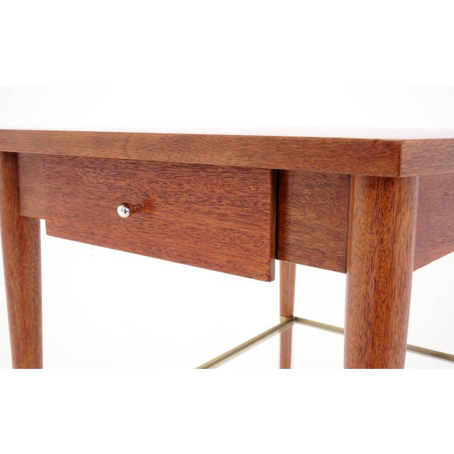 Metal Rare Paul McCobb Trapezoidal Side or End Table For Sale - Image 7 of 10