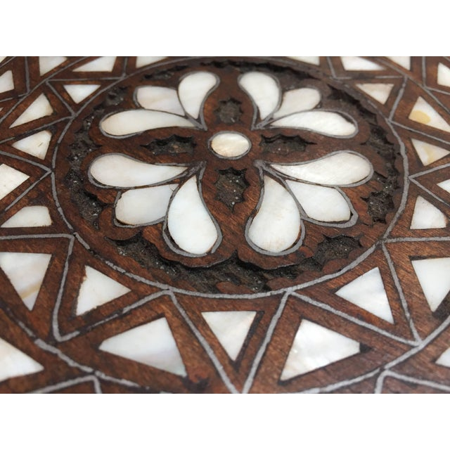 Syrian Mother-Of-Pearl Inlaid Side Table For Sale - Image 12 of 13