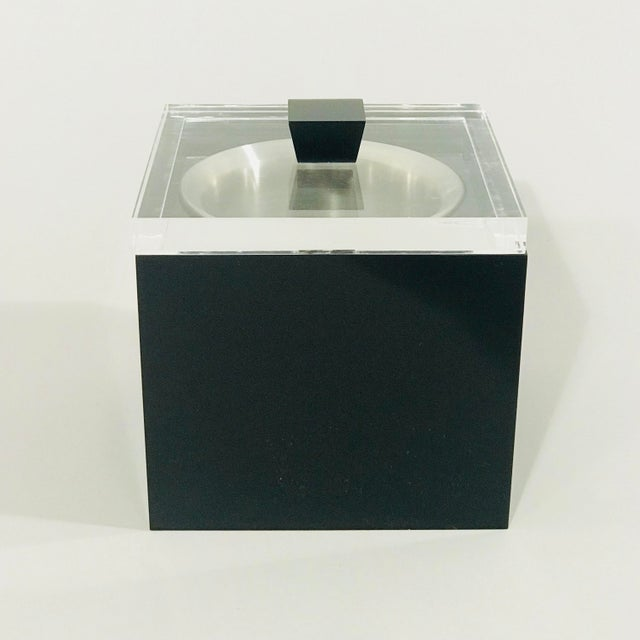 Black Albrizzi Lucite Ice-Bucket For Sale - Image 8 of 8