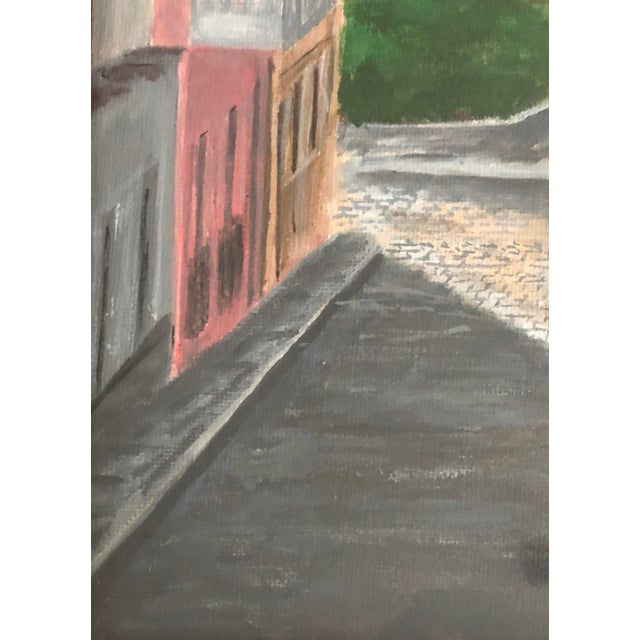 Italian Cityscape Painting, Signed 1984 For Sale - Image 4 of 7