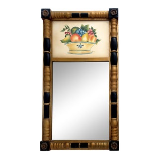 Hitchcock Federal Tabernackle Trumeau Mirror W/ Still-Life For Sale