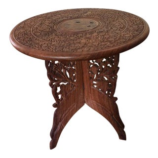 Moroccan Carved Side Table