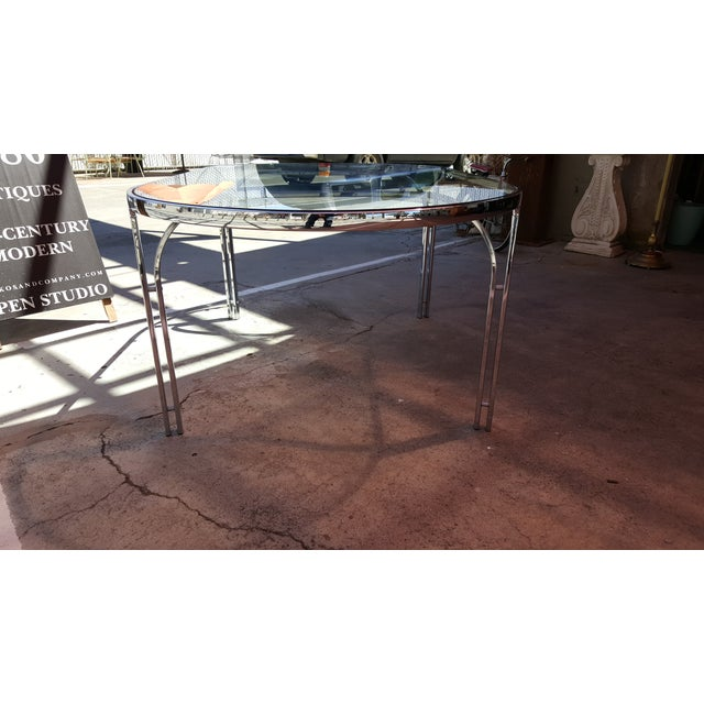 Vintage Polished Chrome Dining Table - Image 6 of 8
