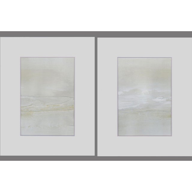 Modern Neutral Textured Art Diptych Paintings - Set of 2 - Image 6 of 6