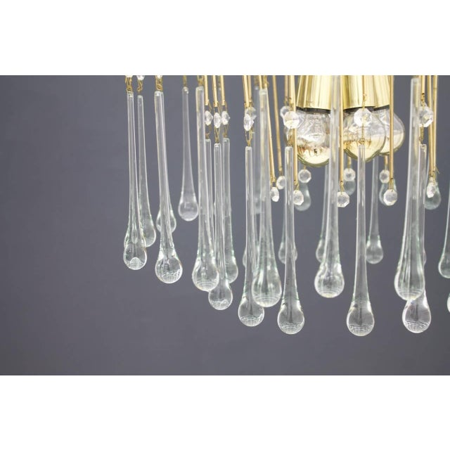 Christoph Palme Waterfall Chandelier Brass and Glass, Germany, 1970s For Sale - Image 4 of 10