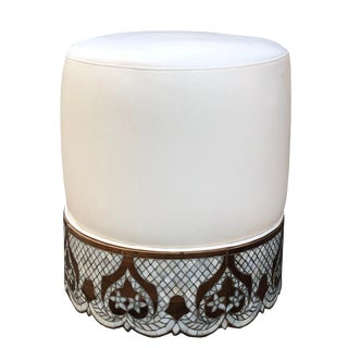 Modern Mother of Pearl Inlay Syrian Ottoman For Sale