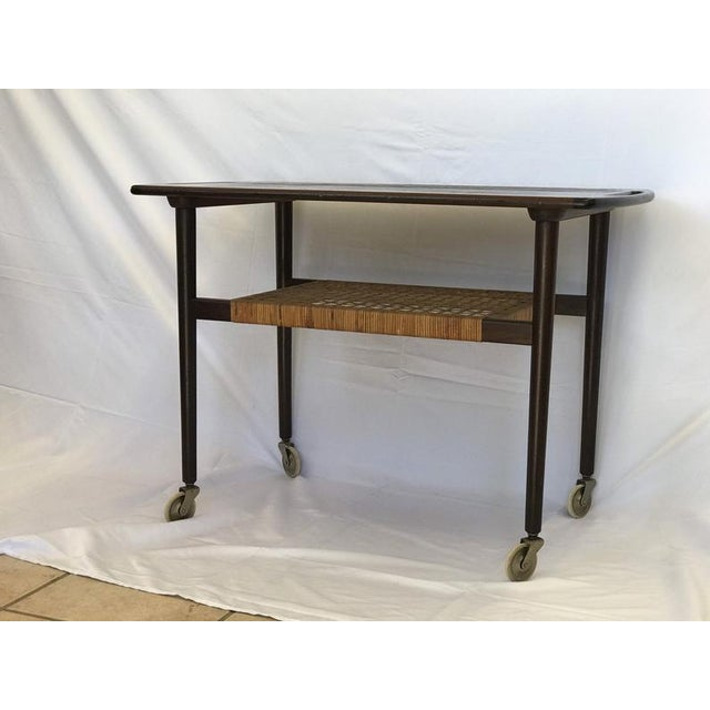 Mid-Century Modern 1960s J Moller Danish Mid Century Modern Rosewood Stand Table For Sale - Image 3 of 4