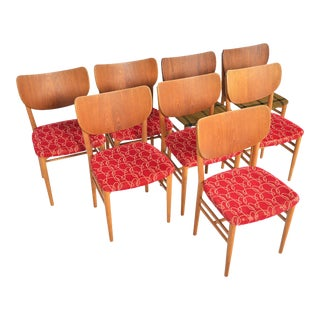 Niels + Eva Koppel Shield Back Dining Chairs in Teak - Set of 8 For Sale