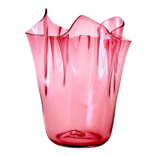 Vintage Venini Handkerchief Vase For Sale