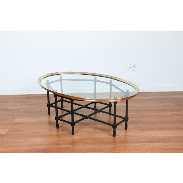 Bamboo Base Coffee Table - Image 7 of 10
