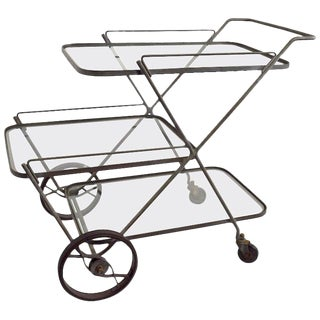 Tempestini for Salterini Serving Bar Cart For Sale