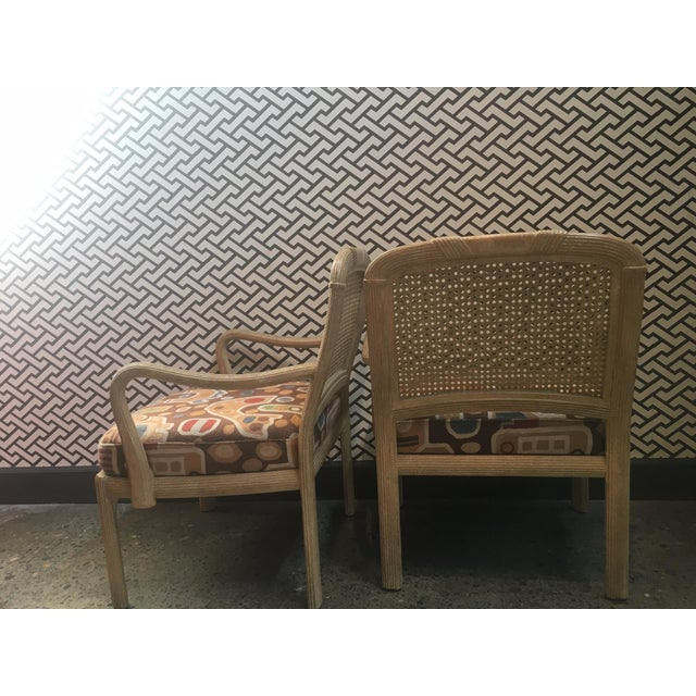 Henredon Cane Chairs - A Pair For Sale - Image 5 of 6