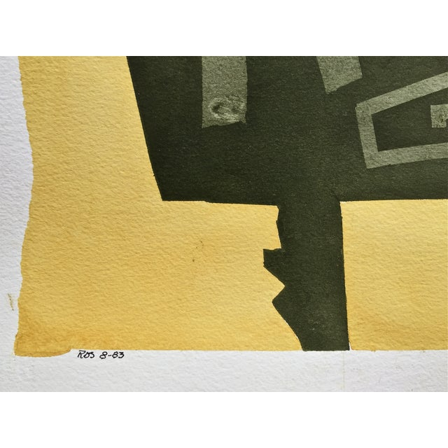 Mid-Century Modern Modernist Abstract Watercolor, Roger Stokes For Sale - Image 3 of 5