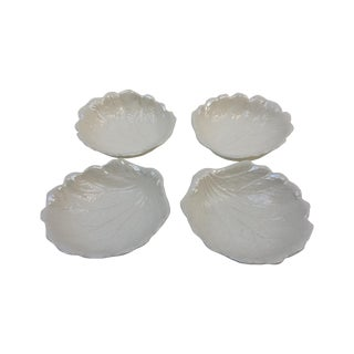 Majolica Style Cabbage Leaf Small Bowls - Set of 4
