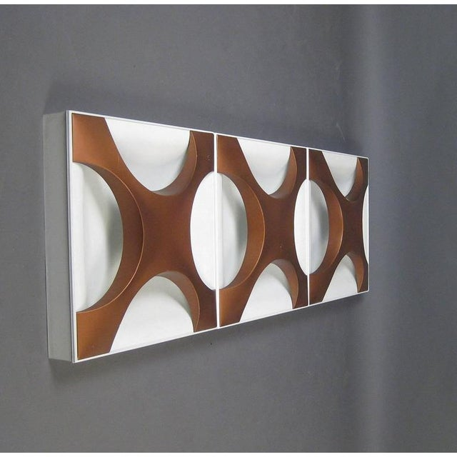 Mid-Century Modern Oyster Wall Lamp by Rolf Krüger & Dieter Witte for Staff, 1960s For Sale - Image 3 of 11