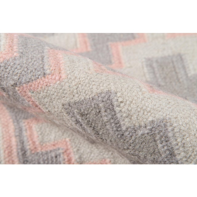 "Erin Gates by Momeni Thompson Brookline Pink Runner Hand Woven Wool Area Rug - 2'3"" X 8' For Sale - Image 4 of 8"