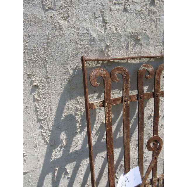 Antique Victorian Iron Gate For Sale - Image 5 of 5