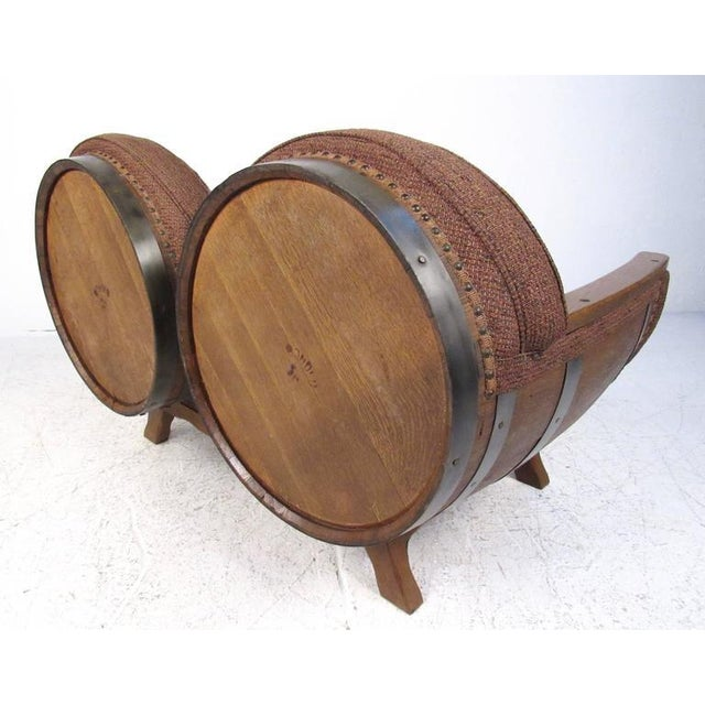 Rustic Wine Cask Loveseat For Sale - Image 4 of 9