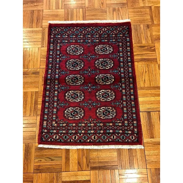 "Hand Woven Bukhara Oriental Rug - 2'1"" X 2'11"" - Image 2 of 5"