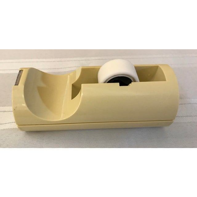 Mid-Century Modern Italian Yellow Tape Dispenser For Sale - Image 5 of 8