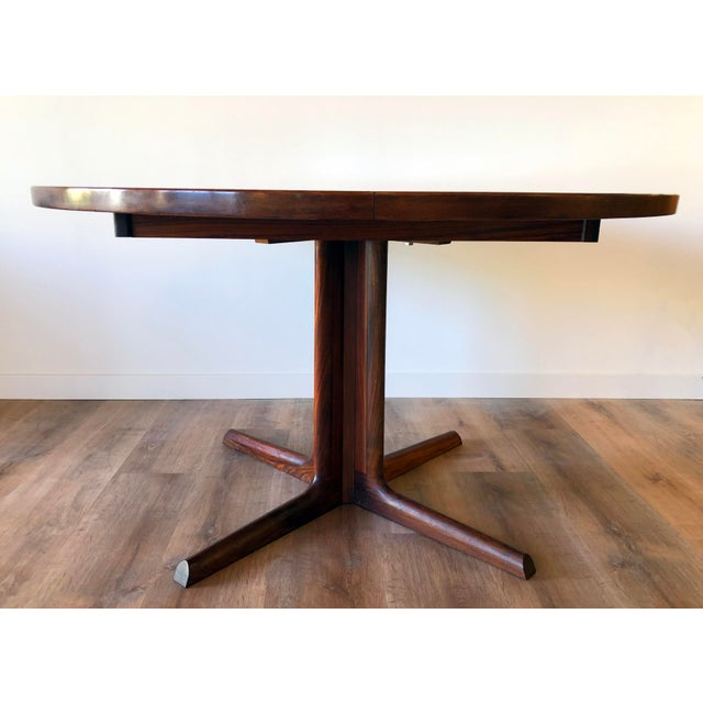 Gudme Mobelfabric Danish MCM Rosewood Dining Table With 2 Leaves For Sale In Seattle - Image 6 of 13