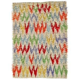 """Modern Hand Knotted Wool Shaggy Rug - 8'3 X 11'8"""" For Sale"""