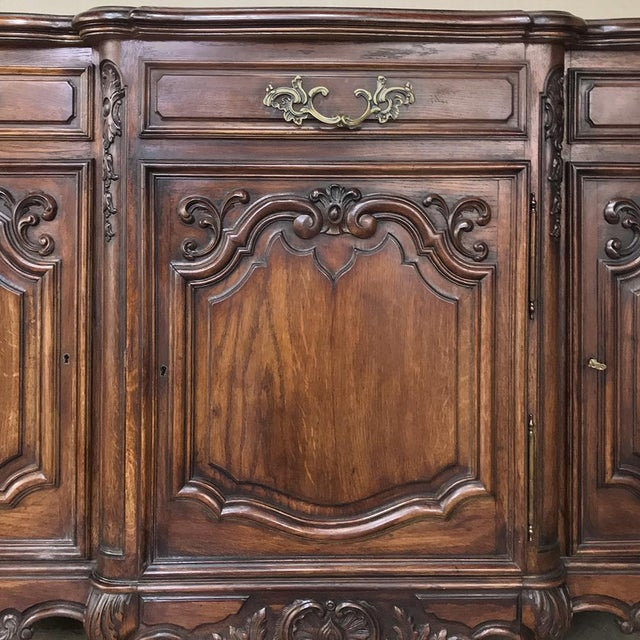 Antique Country French Louis XV Step-Front Buffet For Sale - Image 10 of 13